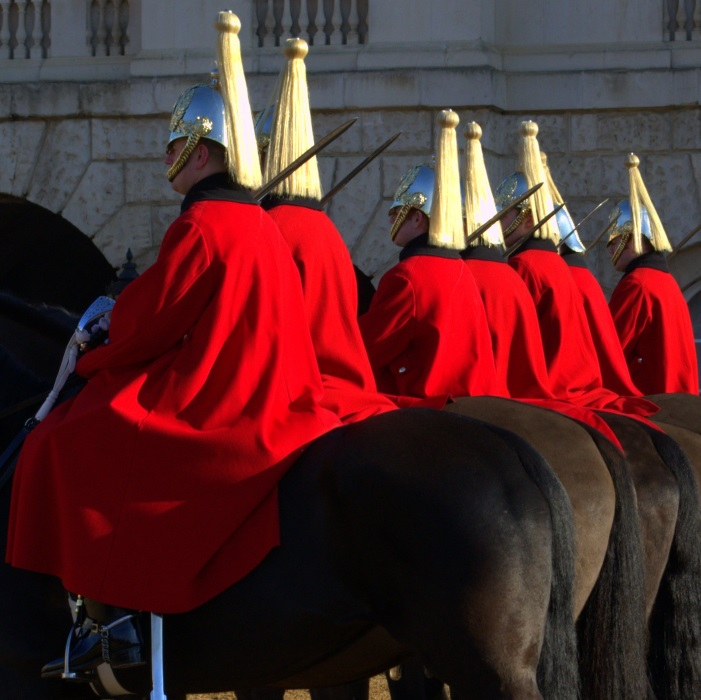 Changing of the Guard on Horse Guard's Parade.