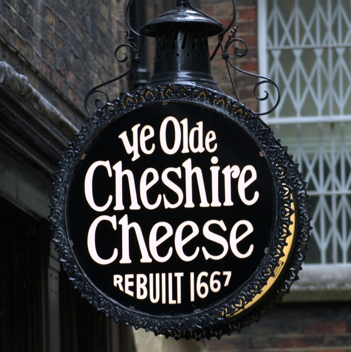 Cheshire Cheese pub sign