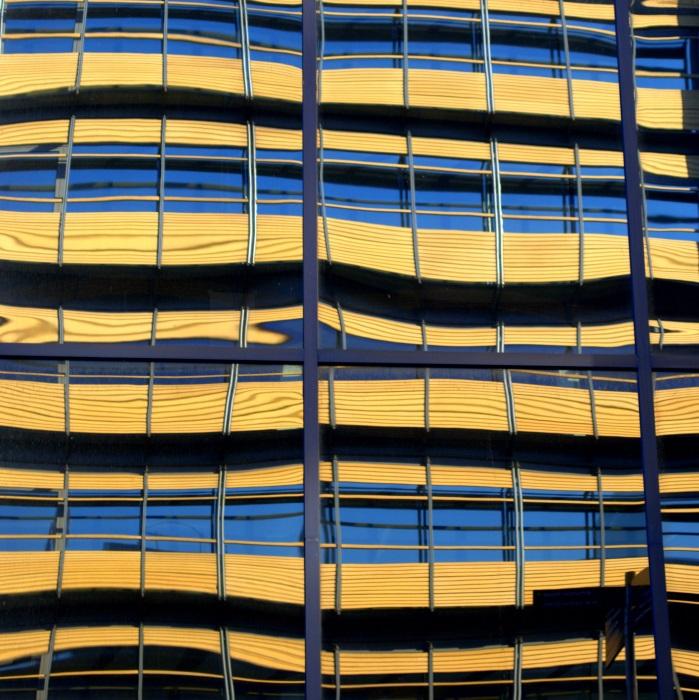 Yellow City reflections.