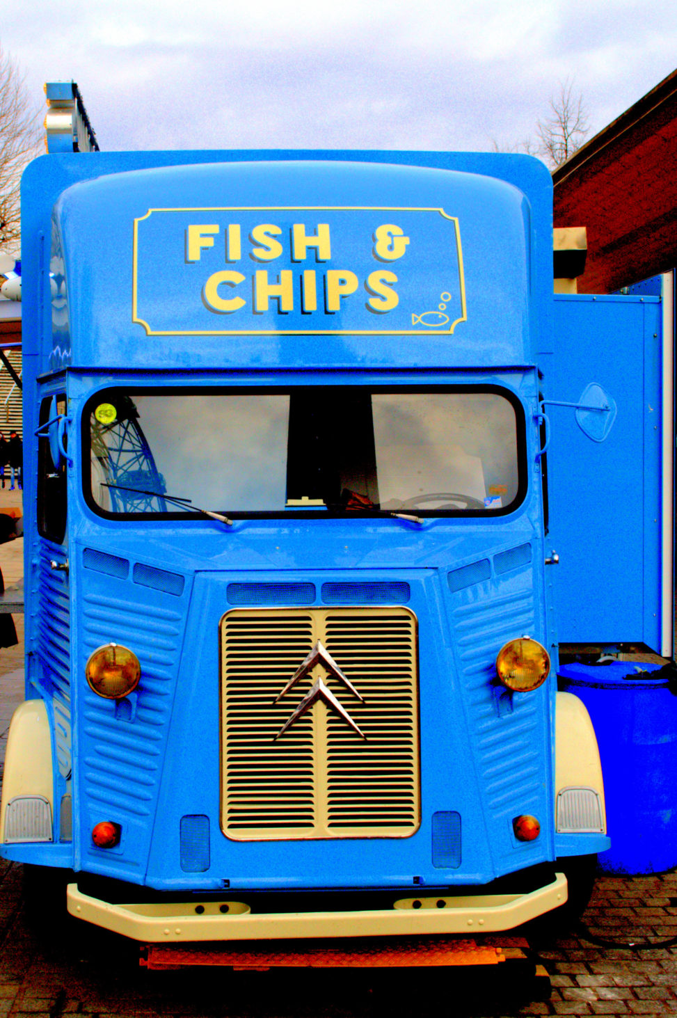 A blue Fish and Chip Van