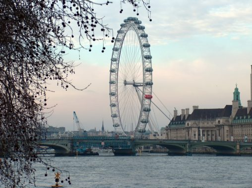 The London Eye seen one afternoon.