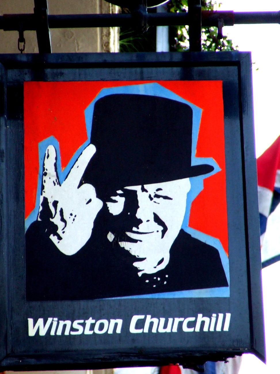 Winston Churchill Pub sign