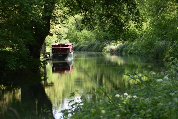 Boat moored near Barley Mow.